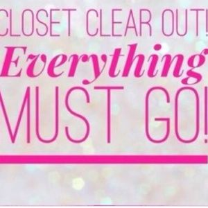 CLOSET CLEAROUT SALE!!!